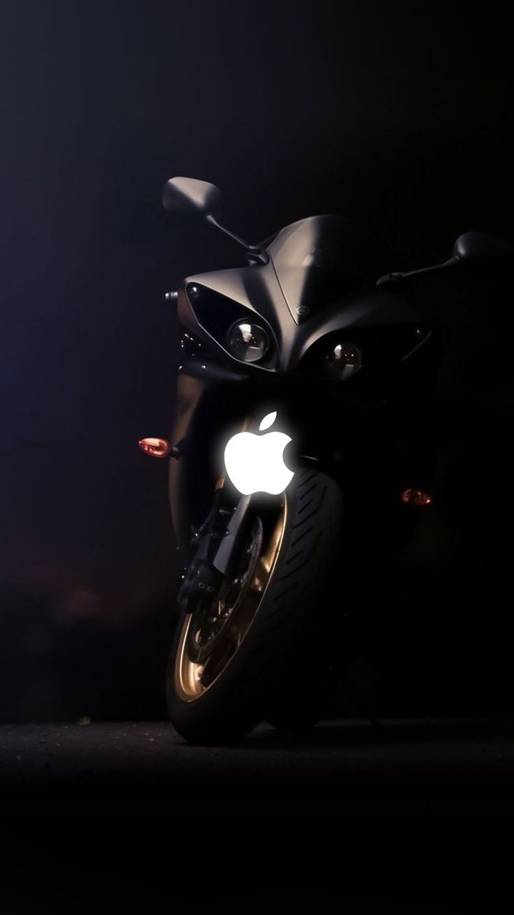 Download And Save Hd Bike Wallpapers For Iphone 6 With Apple Logo