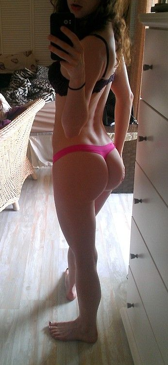 skinny girl ass selfie