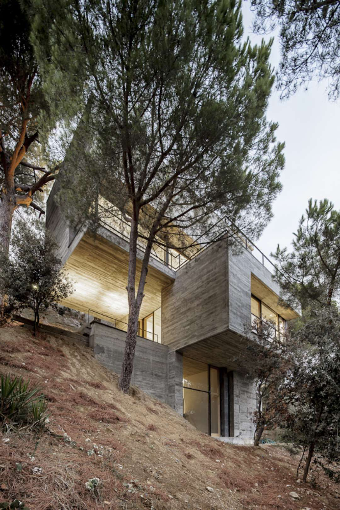 Another Approach To A Steeply Sloping Site; Architizer