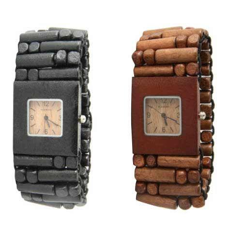 Wooden beaded stretch bracelet watch! $35
