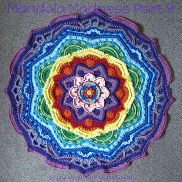 Mandala de la locura. parte 9 | crochet | Pinterest | Locura ...