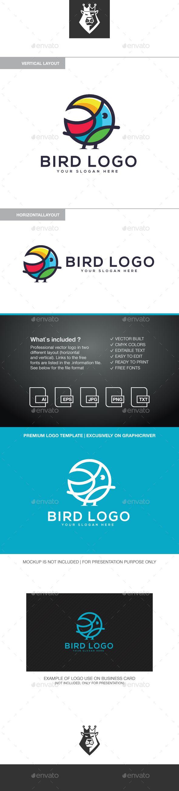 Bird Logo Template Vector EPS, AI Illustrator | Logo Templates ...