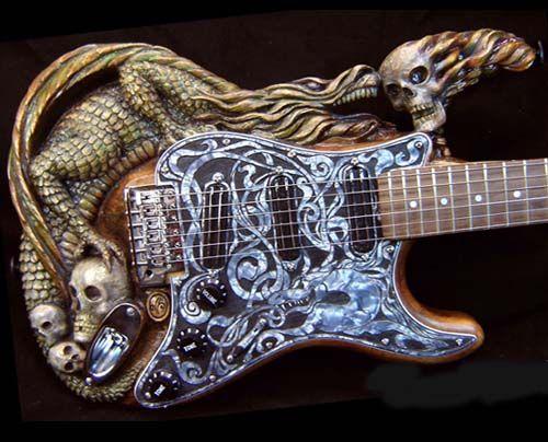 Crazy Custom Guitars Custom Guitars Guitar Steampunk Guitar