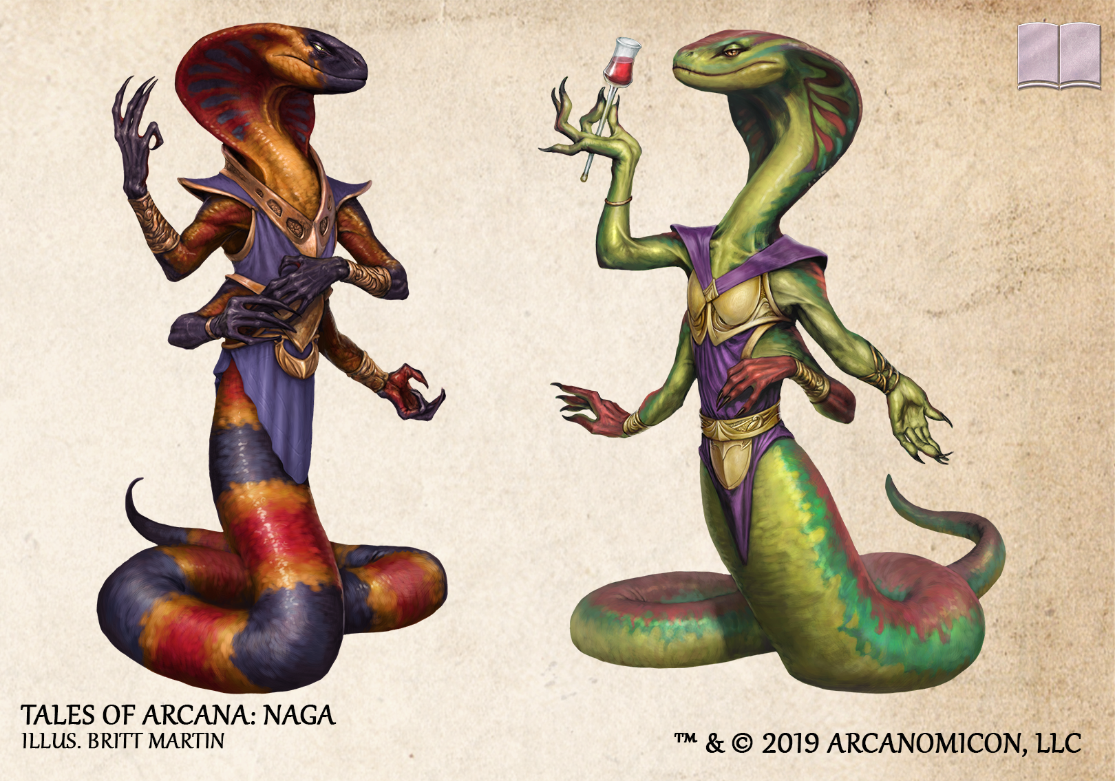Tales Of Arcana Naga Science Fiction Art Fantasy Mythical Creature Art Character Art