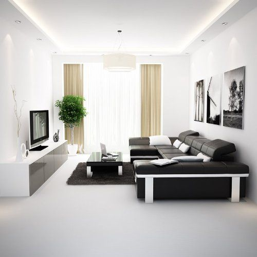 modern minimalist living room interior design decorating ideas black
