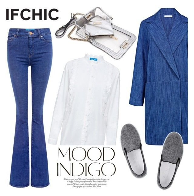 """""""Mood Indigo/Outer Denim"""" by ifchic ❤ liked on Polyvore featuring Atea Oceanie, MiH, Amb Ambassadors of minimalism, Mohzy, ANNA, women's clothing, women, female, woman and misses"""