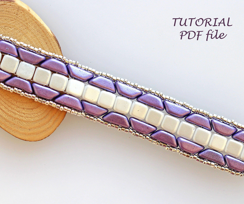 Beading pattern bracelet bead patterntwo hole bead