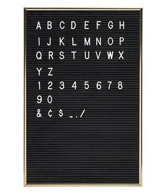 Felt Letter Board Sign Message Home Office Decor Board Oak Frame With 290 Changeable White Letters Symbols Numbers Characters And To Have A Long Life. Office & School Supplies