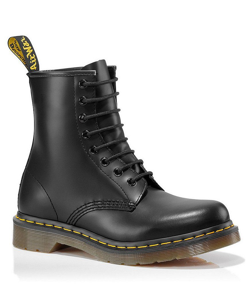 Dr  Martens Women's 1460 Smooth Leather Combat Boots is part of Clothes Hipster Combat Boots - From Dr  Martens, the 1460 women's combat boots featuredurable, smooth leather upperGoodyear welted product upper and sole are sewn together, not merely gluedlaceup closure for an adjustable yet secure fitunlinedoriginal Dr  Martens aircushioned soleoil and fat resistant outsole is tough and offers good abrasion and slip resistanceapprox  6  shaft height; 11  shaft circumferenceApprox  1 25  heelImported