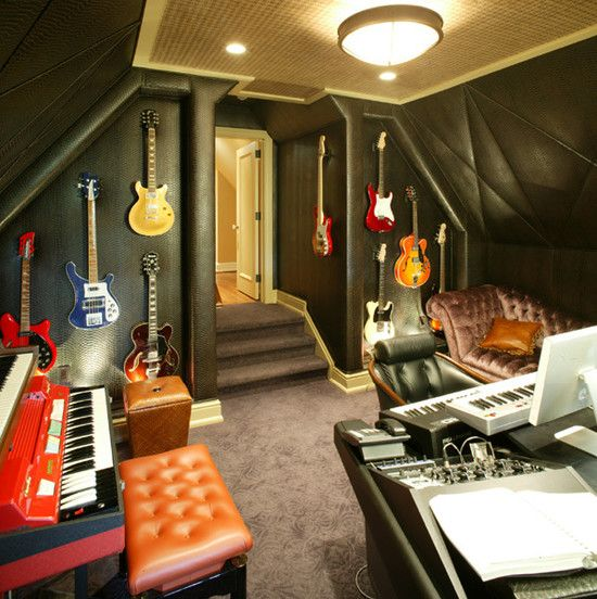 Spaces band room design pictures remodel decor and for Band bedroom ideas