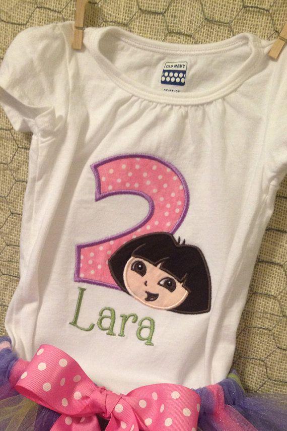 Personalized Dora Birthday Shirt