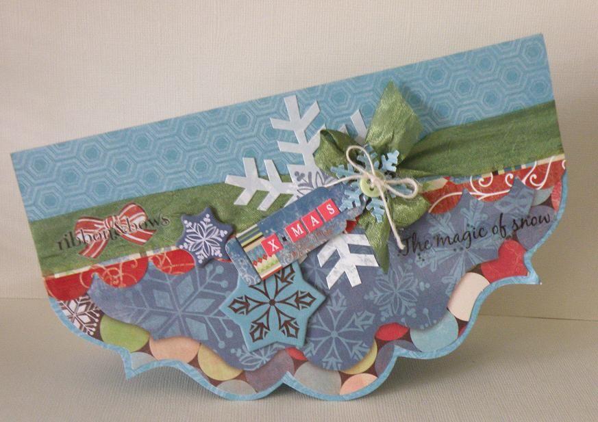 Christmas Card using Bo Bunny Blitzen