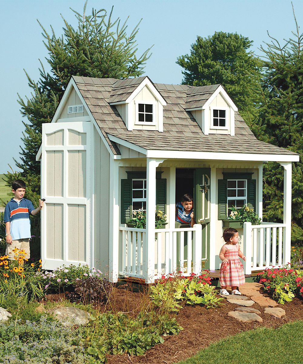 suncast backyard cottage floored playhouse u0026 porch kit zulily