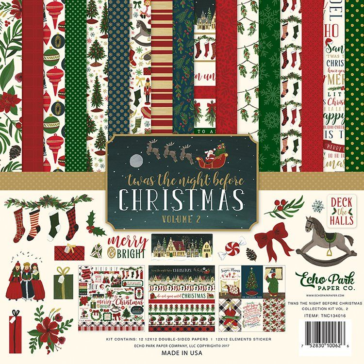 Echo Park - Twas the Night Before Christmas Collection - 12 x 12 Collection Kit - Volume 2