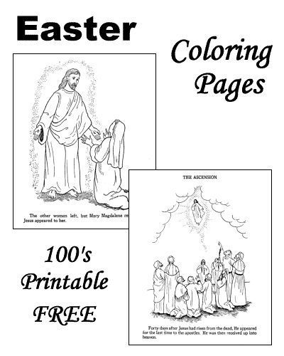 Religious Easter coloring pages! | bible lessons for the boys ...