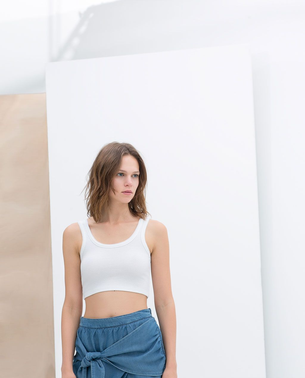 ZARA - NEW THIS WEEK - CROPPED TANK TOP