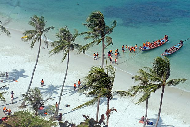 Playa   principal de  Ko  Wua-Talap  2  - THAILANDIA - ASIA