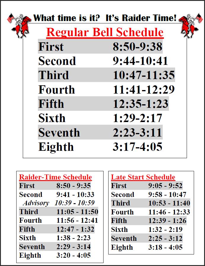 2016-17 Bell Schedule