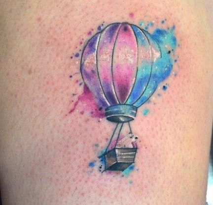 Hot Air Balloon Tattoo Watercolor Hot Air Balloon Tattoo
