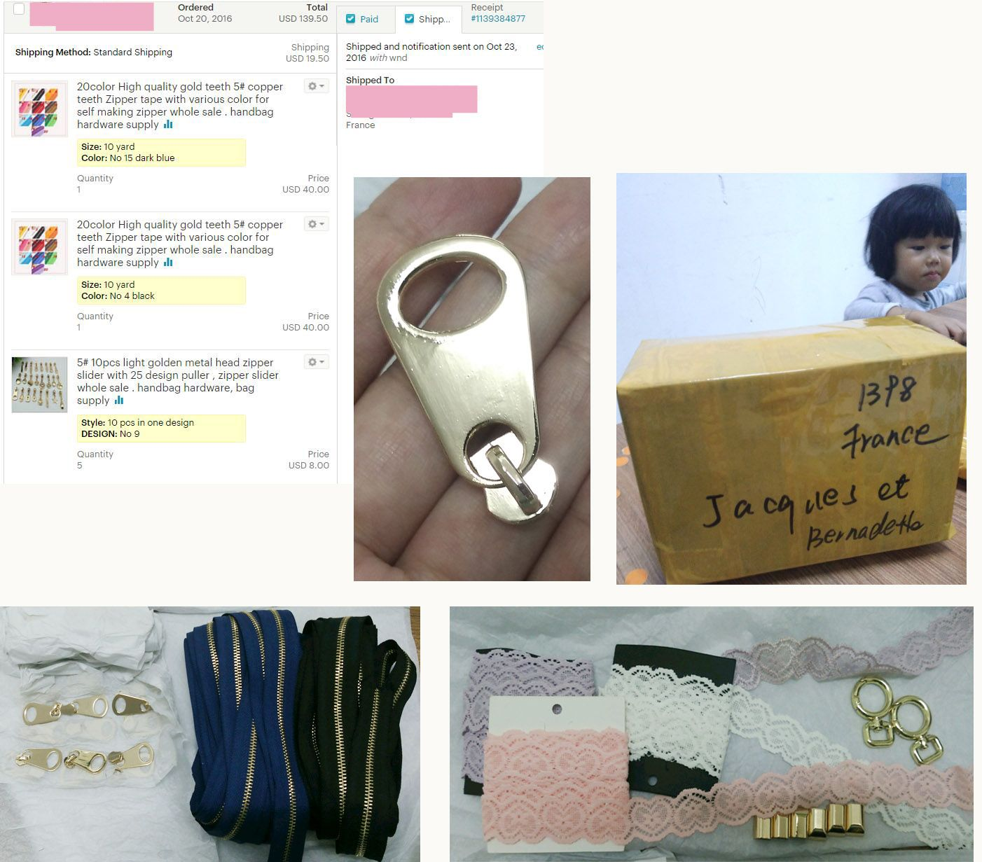 Light Golden Metal Head Zipper Slider With 25 Design Puller Whole Handbag Hardware Bag Supply High Quality Gold Teeth Copper