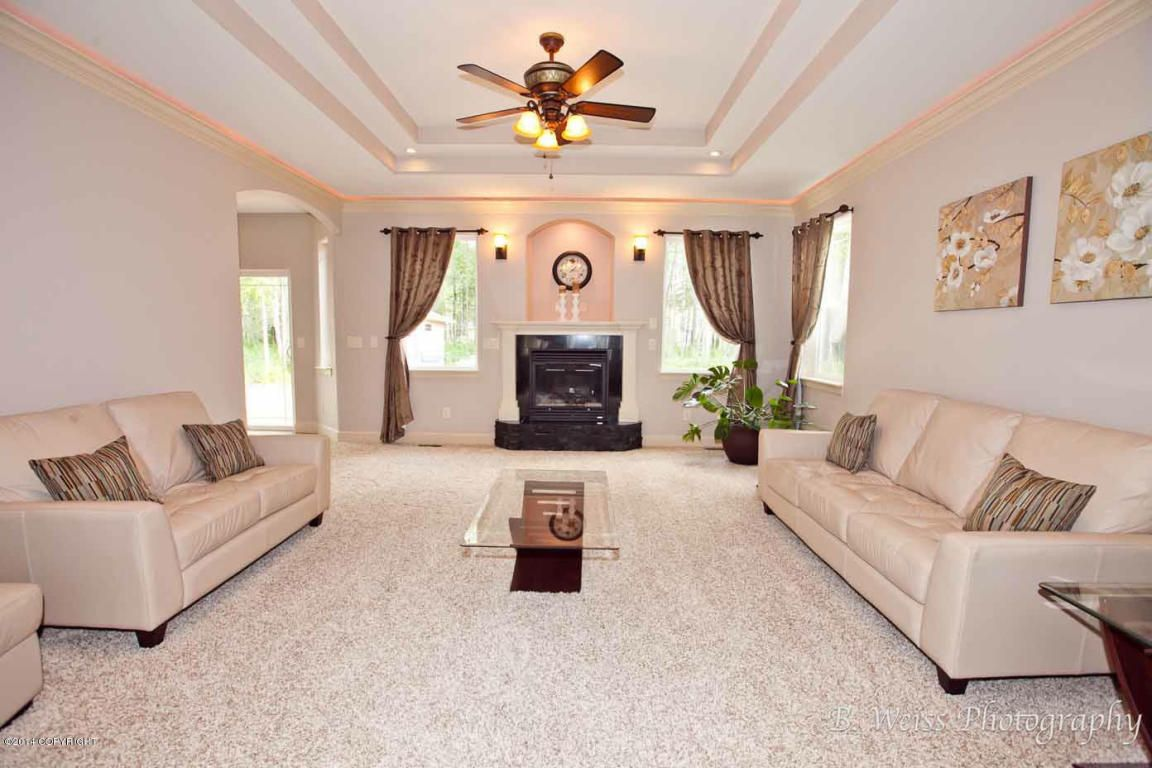 Beautiful custom home with entry, tray ceilings