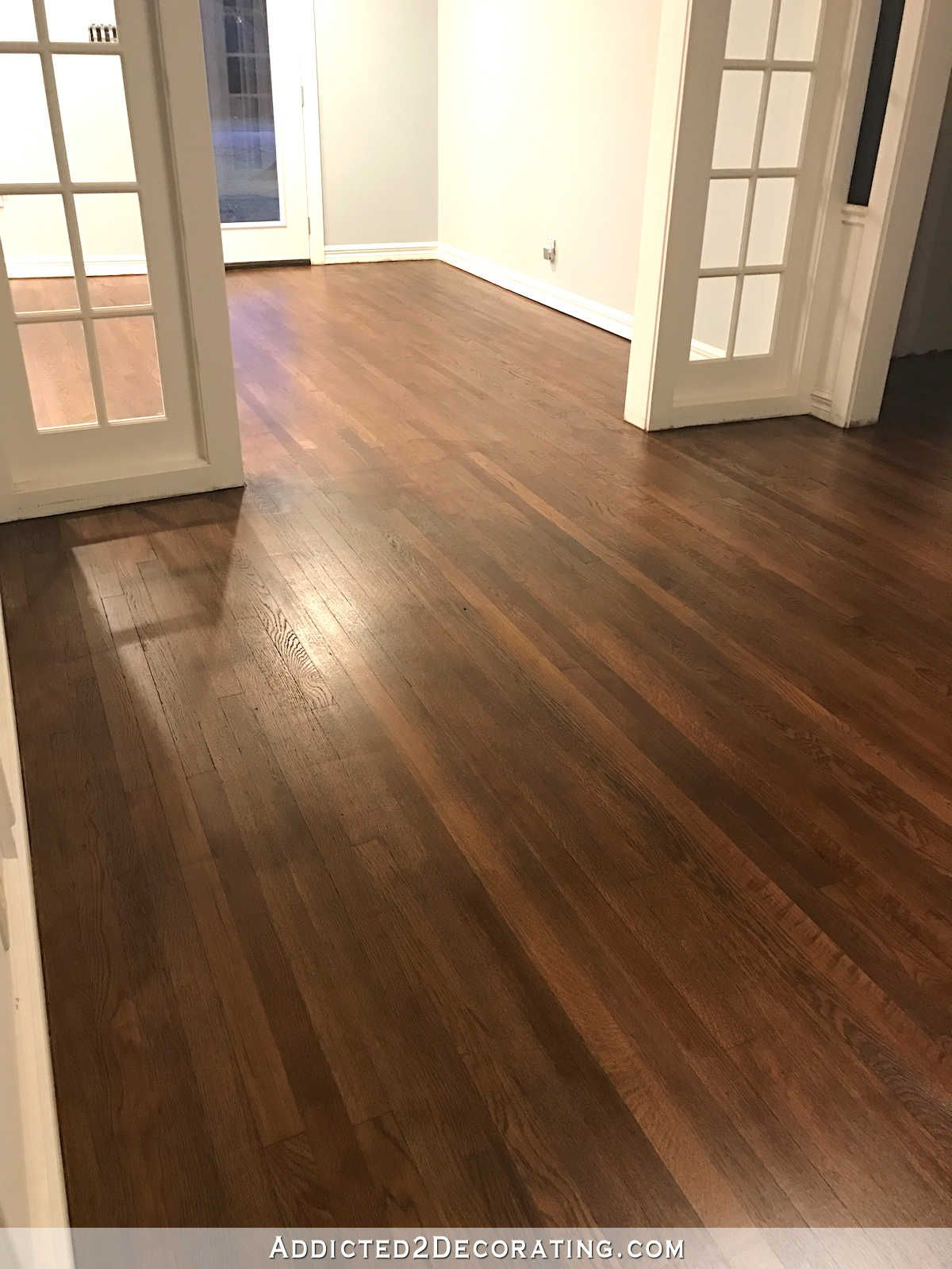 the hardwood floor refinishing adventure continues – tip for getting
