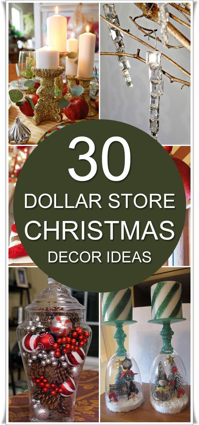 30 Dollar Store Christmas Decor Ideas
