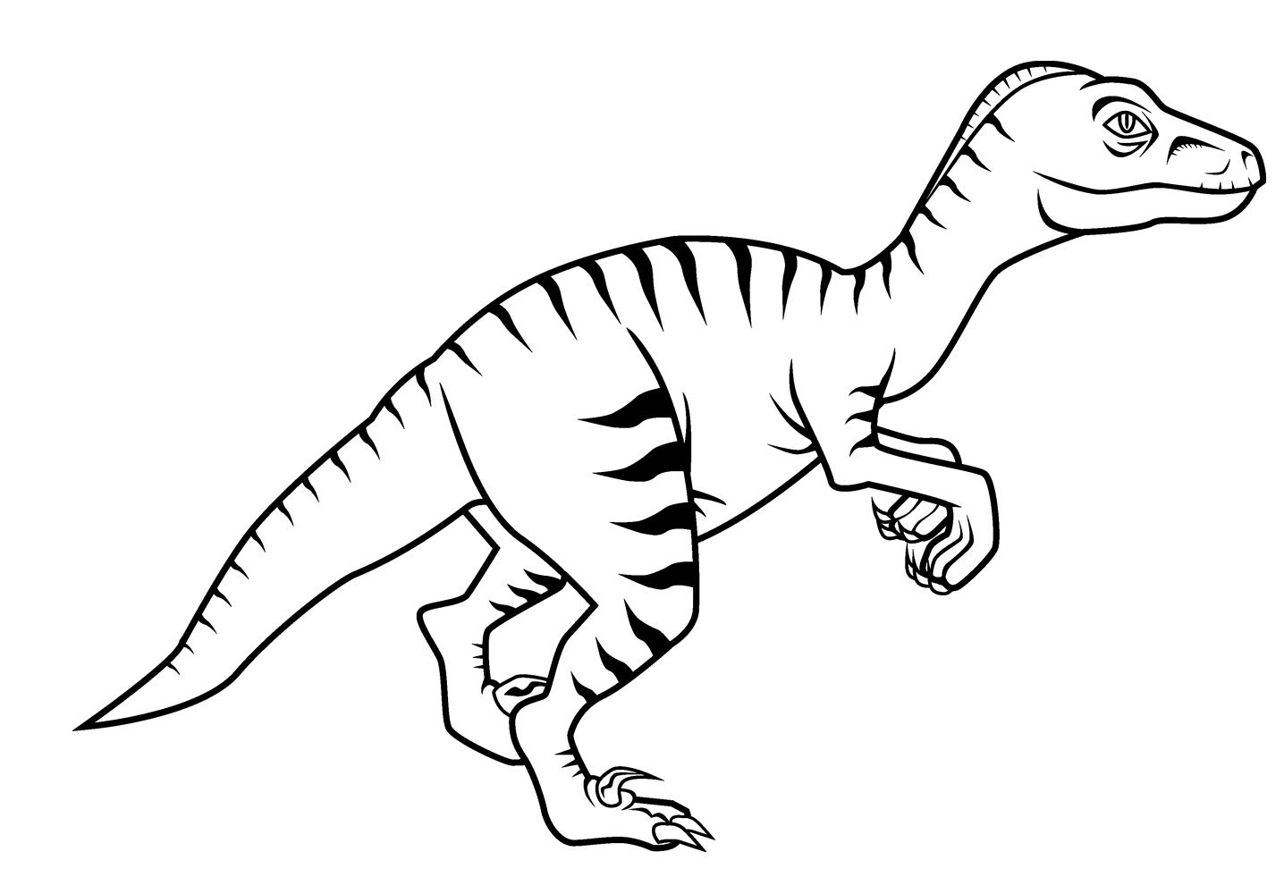 Real looking dinosaur coloring pages - Dinosaur Velociraptor Coloring Pages