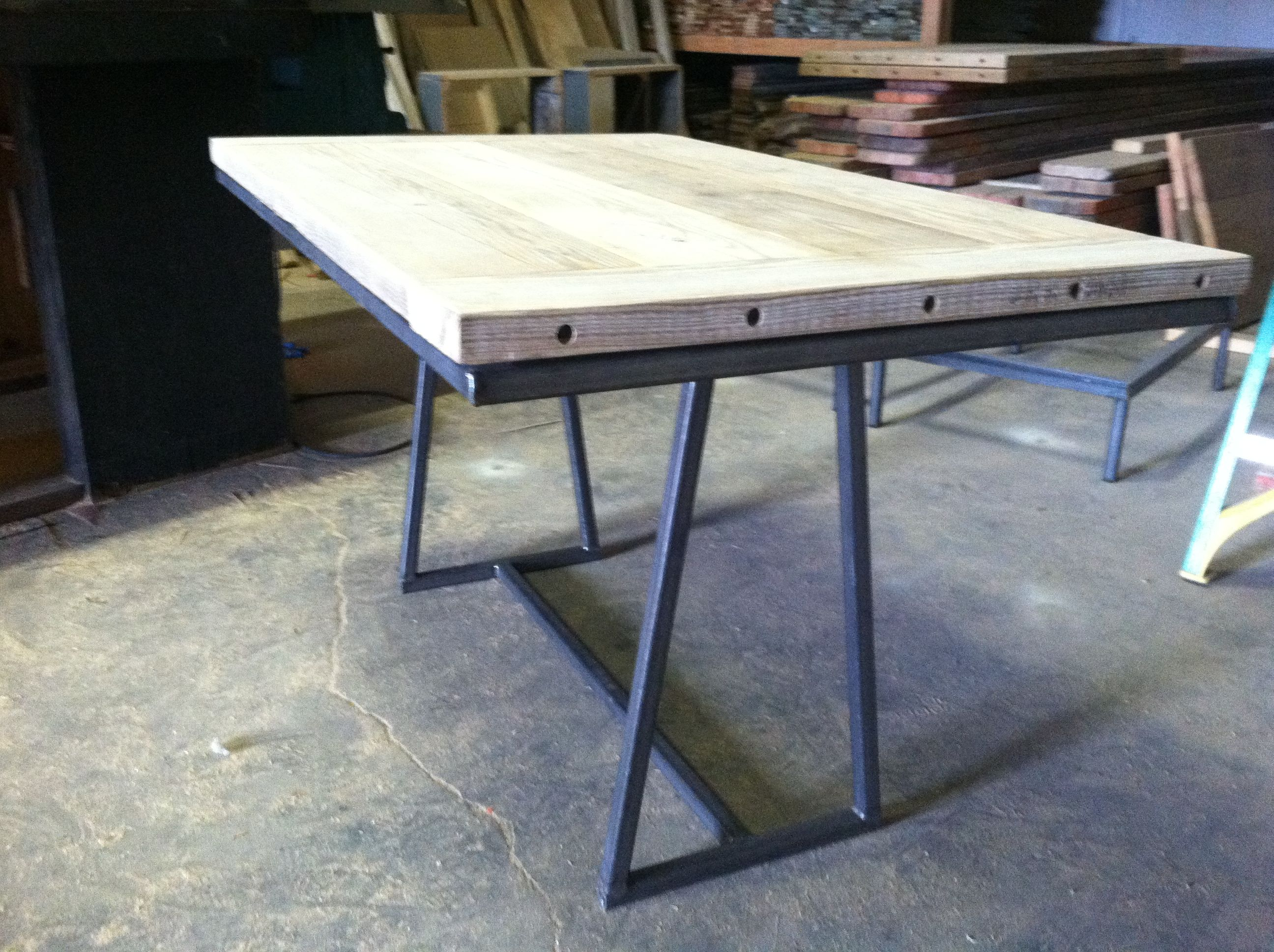 Rustic Style A Frame Dining Table Made Of Square Tube Steel And