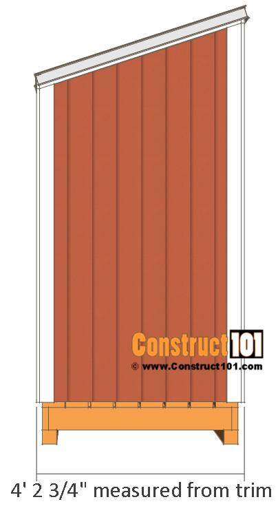 Firewood Shed Plans - 4x8 Firewood Storage #firewoodstorage