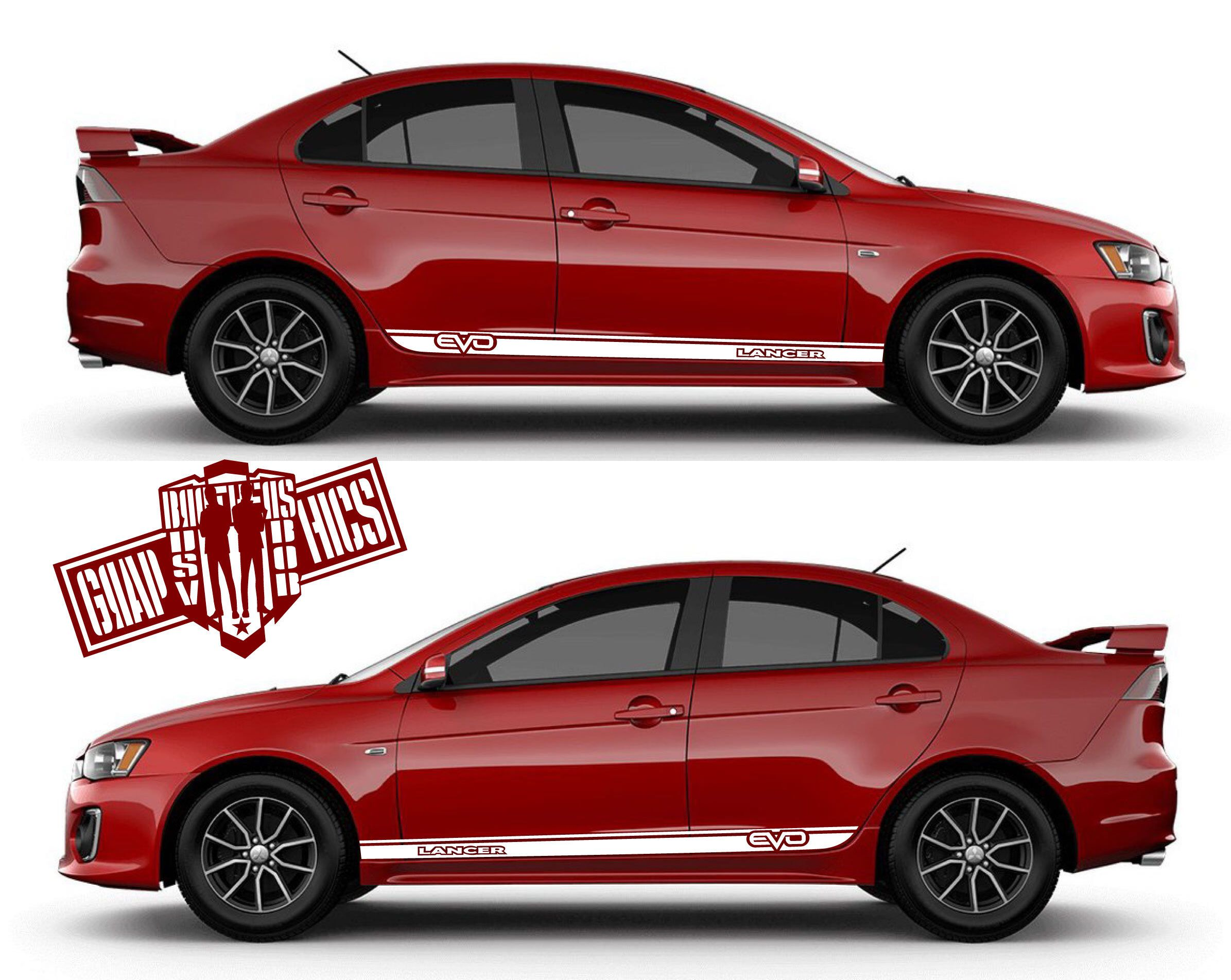 Excited To Share This Item From My Etsy Shop Side Sticker For Cars Mitsubishi Lancer Evolution Gt 2004 2019 2 Peaces Papergoods Birthday Bumperstripes A [ 1903 x 2391 Pixel ]