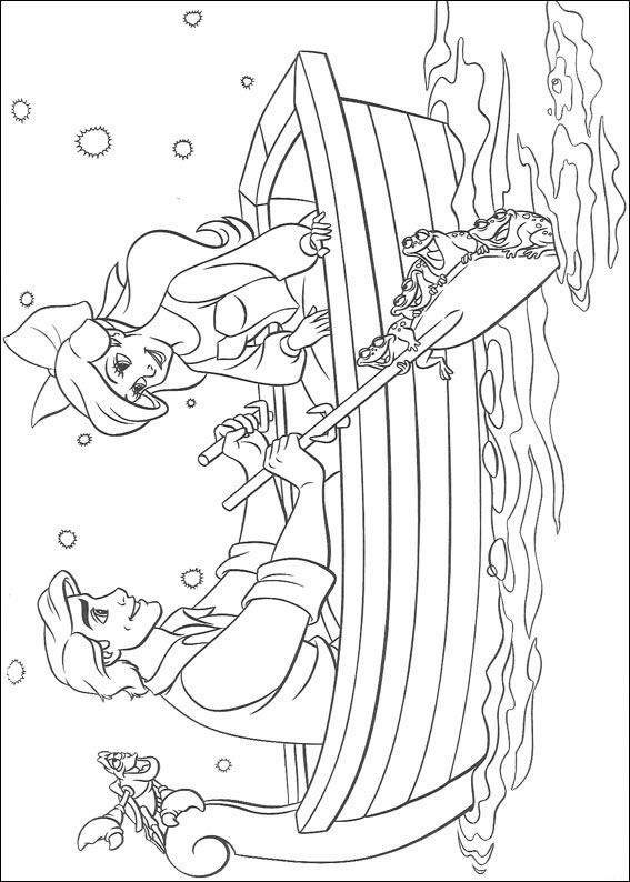 coloring page Ariel, The Little Mermaid - Ariel, The Little Mermaid ...