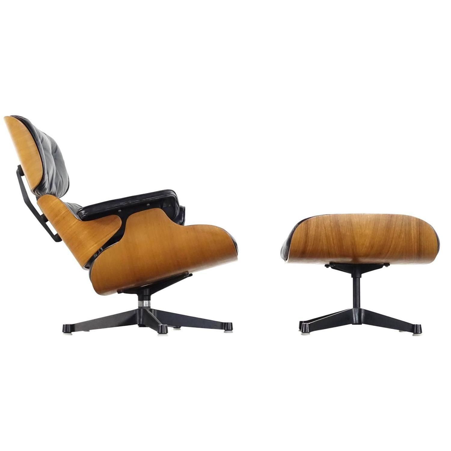Charles Eames Lounge Chair Very Early Charles & Ray Eames Lounge Chair From Contura 1957-1965 | Eames Lounge Chair, Lounge Chair, Modern Swivel Chair