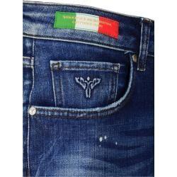 Destroyed Jeans im Used-Look, Blau Denim Carlo ColucciCarlo Colucci