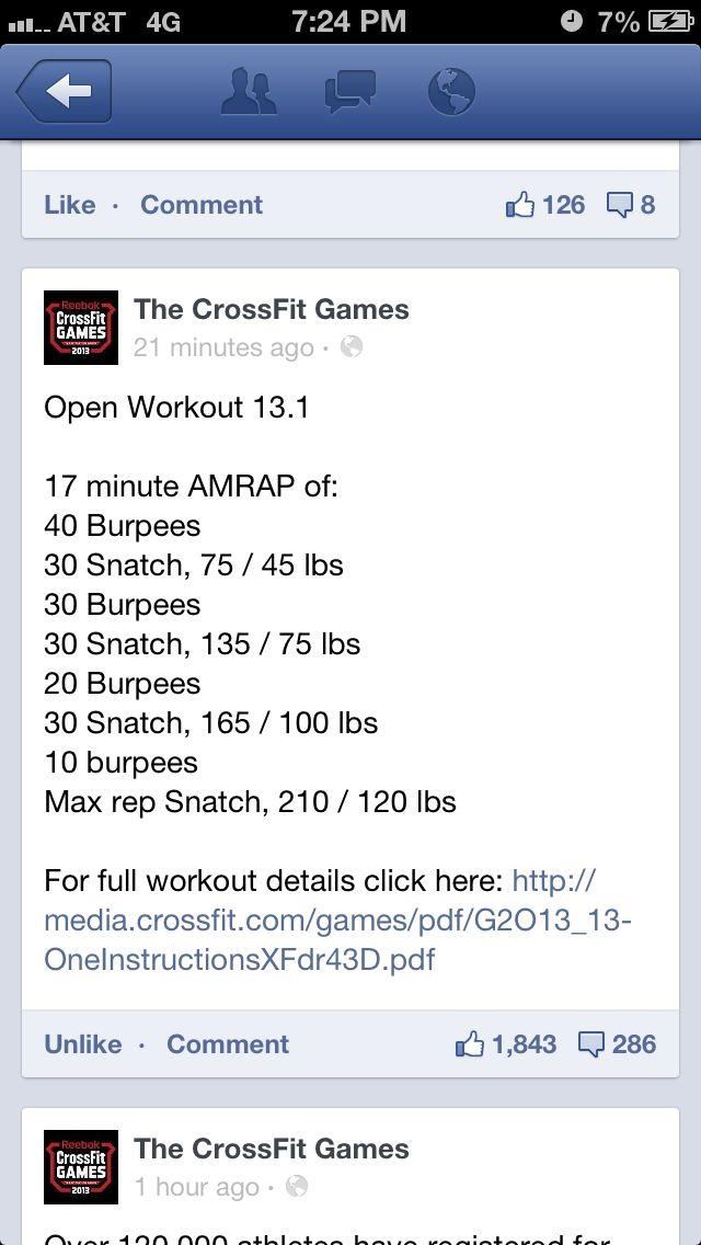 Crossfit open 2012 13.1. 158 reps!! Bring it :p