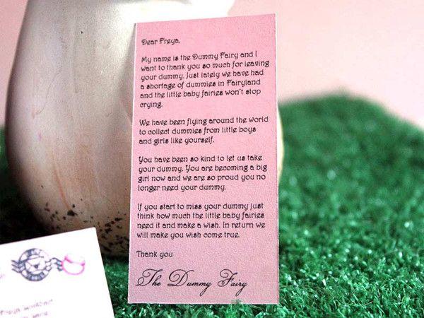 000 Dummy Fairy Letter Dummy Fairy! Lil fairy door, Baby