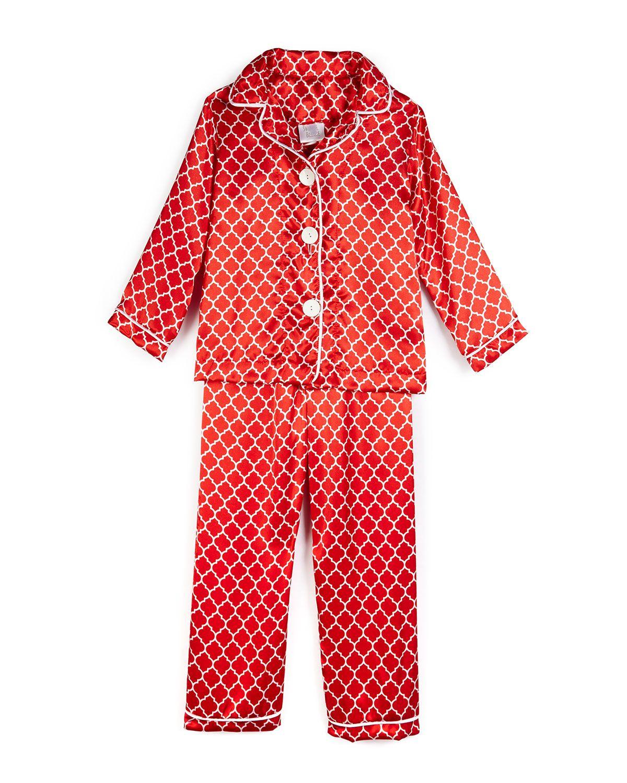Satin Quatrefoil Pajama Set 5c57a0907