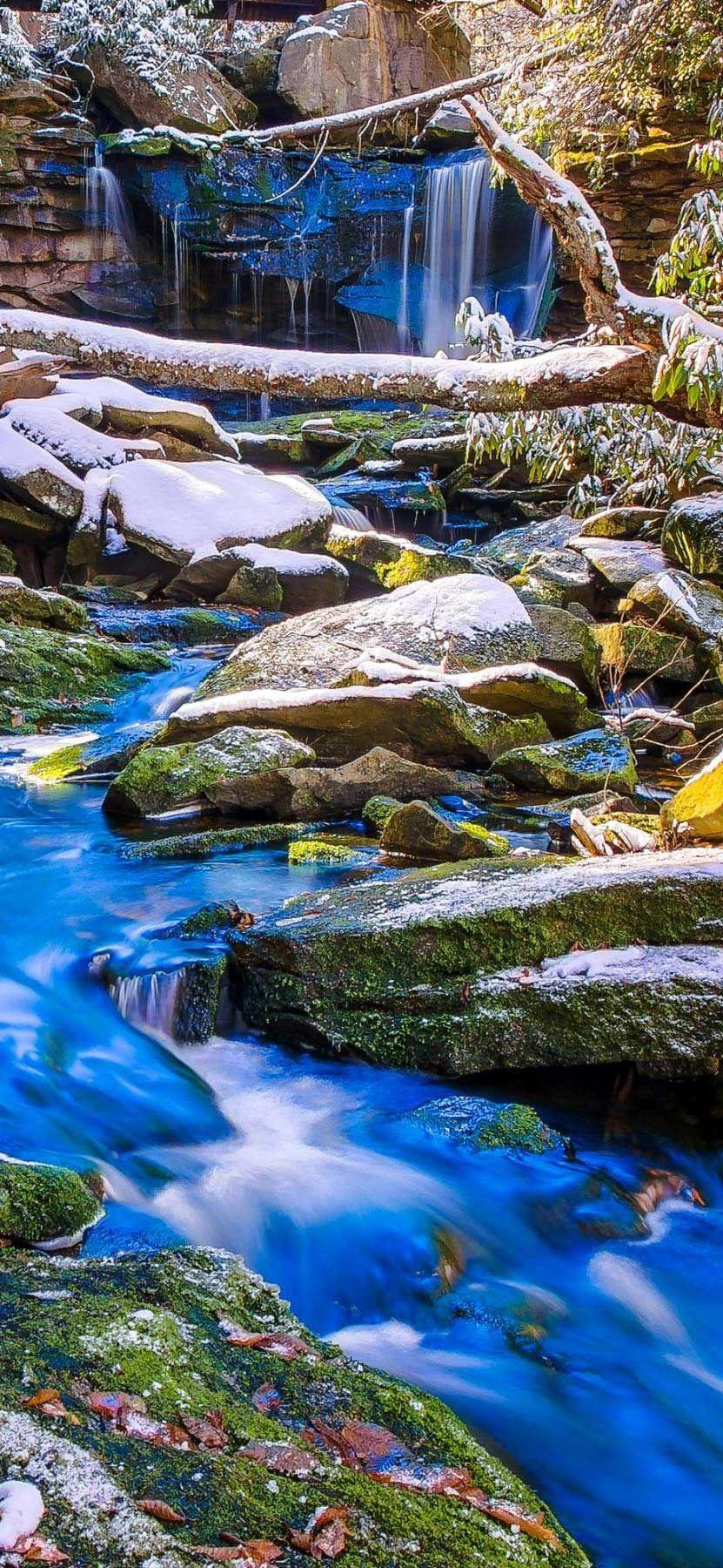 Iphone X Wallpaper Water Stream Forest Blue Rocks Hd Hd Best Nature Wallpapers Water Blues Rock