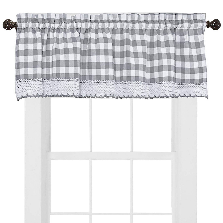 Valances Walmart Com Valance Curtains Grey Kitchen Curtains
