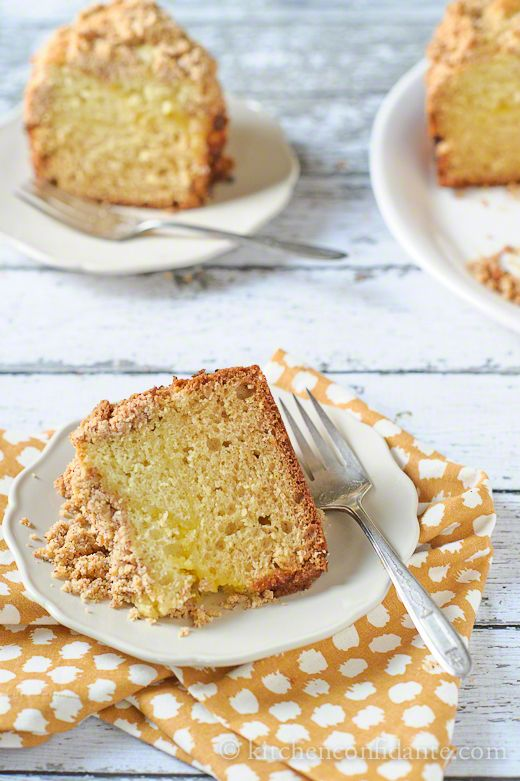 Meyer Lemon Coffee Cake with Almond Streusel. Sounds absolutely delicious for spring!