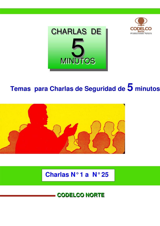 32130874 Charlas De Seguridad Codelco 1 25 By Eduardo