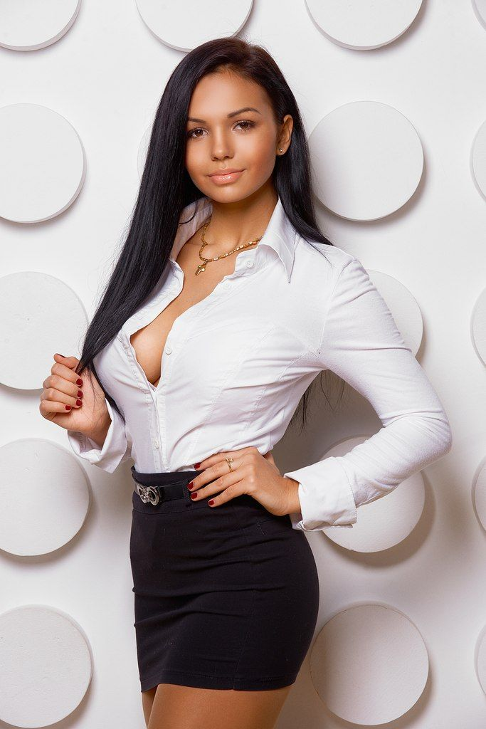 Sexy Girls In Shirts  Long Hair Styles  White Shirts -5107