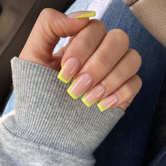 15 Diseños de uñas para un francés colorido