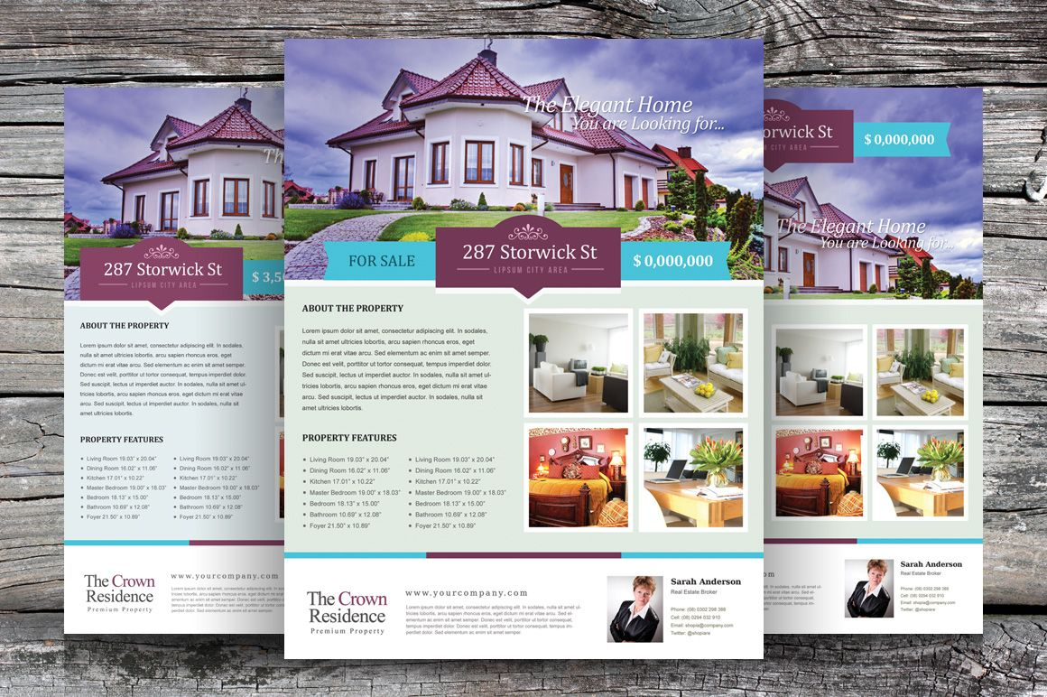 real estate flyer template vol 02 flyers 1 design layouts
