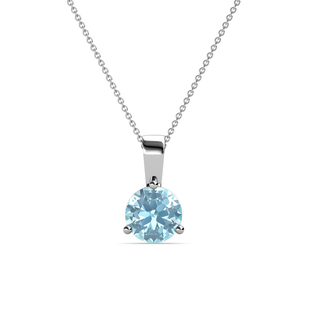 Charm Her Neckline With This 0 95 Solitaire Pendant Which