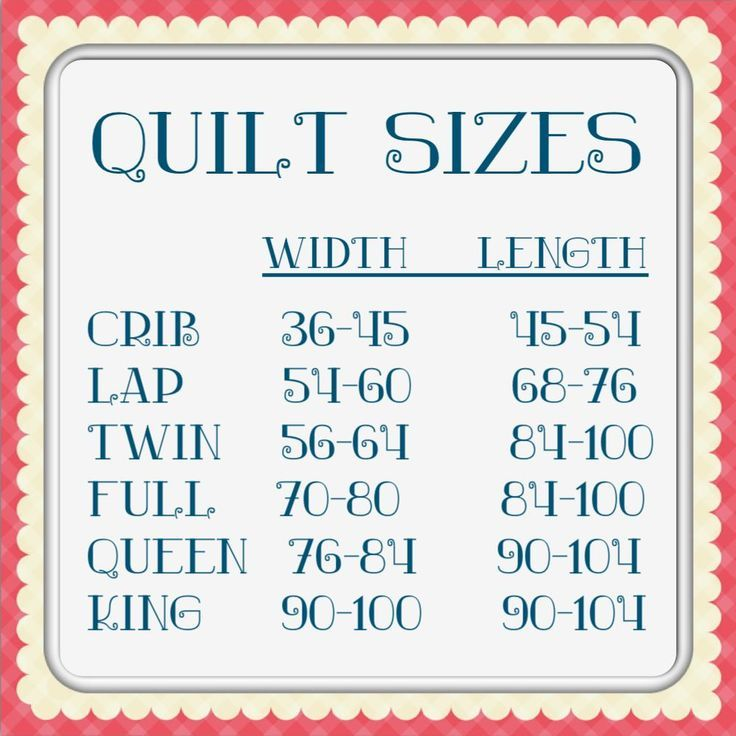 Charts quilt size chart from sassy quilter go to her site for