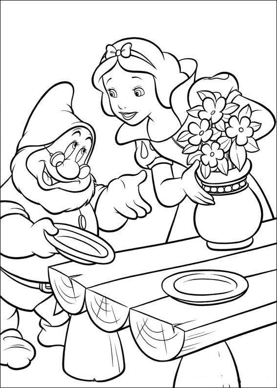 Dibujos Para Colorear Blancanieves Y Los Siete Enanitos 4 Disney