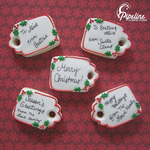 images of present cookies | gift tags | Cookies - Winter