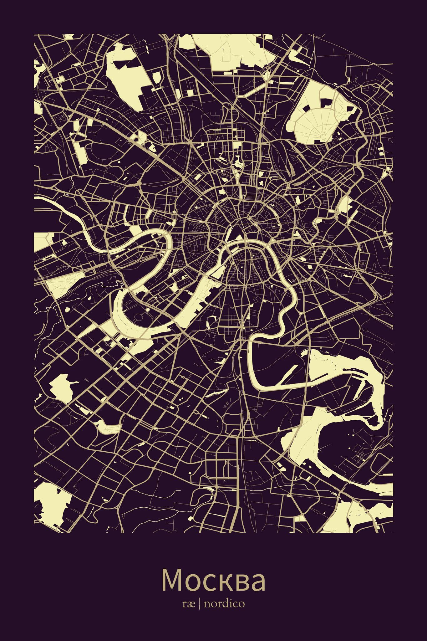 Moscow Russia Map Print Moscow Russia Map