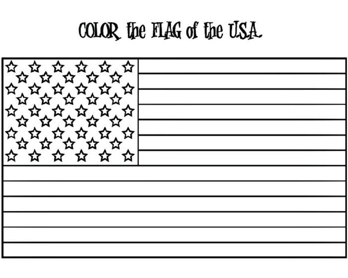 american flag coloring page w free extension activities